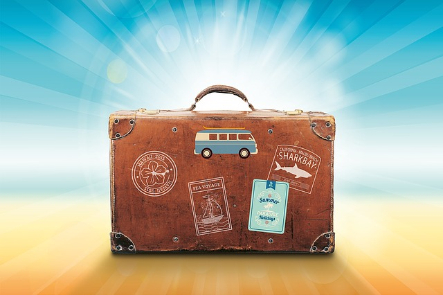 obrázky na kufru