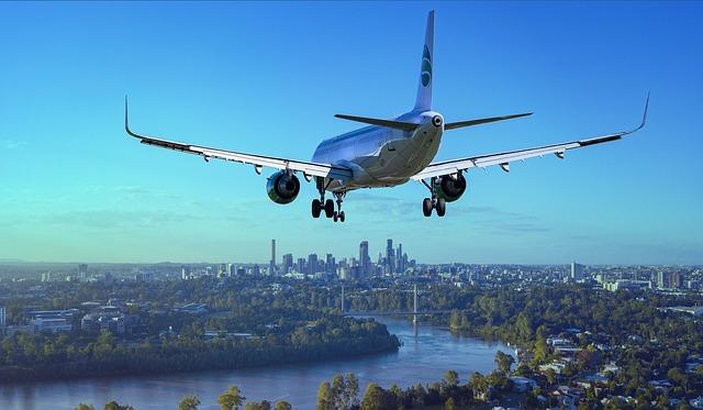 letadlo před přistáním